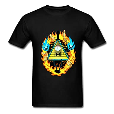 Amazon Com Bill Cipher Gravity Falls Men S Short Sleeve Graphic T