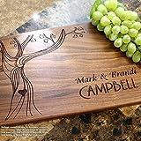 Personalized Cutting Board, Custom Keepsake, Engraved Serving Cheese Plate, Wedding, Anniversary, Engagement, Housewarming, Birthday, Corporate, Closing Gift #405