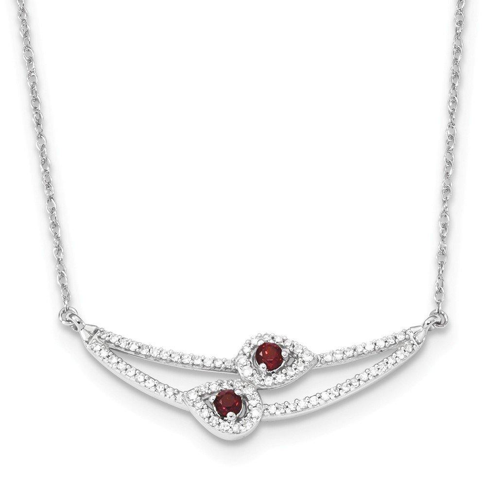 1,1 mm 14 ct Weißszlig; Gold Diamant und Grünat Halskette –  48 cm