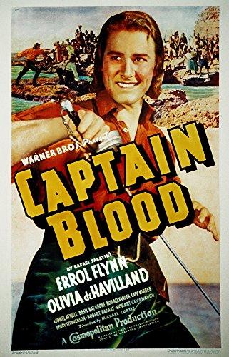 Posterazzi EVCMCDCABLEC005HLARGE Captain Blood Errol Flynn 1935 Movie Poster Masterprint, 24 x 36