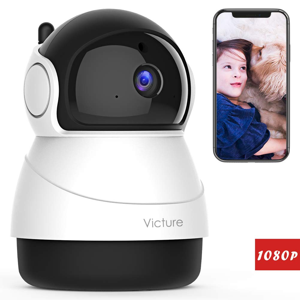 Victure 1080P WiFi Pet Camera FHD Indoor Wireless Surveillance Security IP Camera with Motion Detection Night Vision 2-Way Audio Cloud Storage for Baby Elder Pet Monitor with Camera