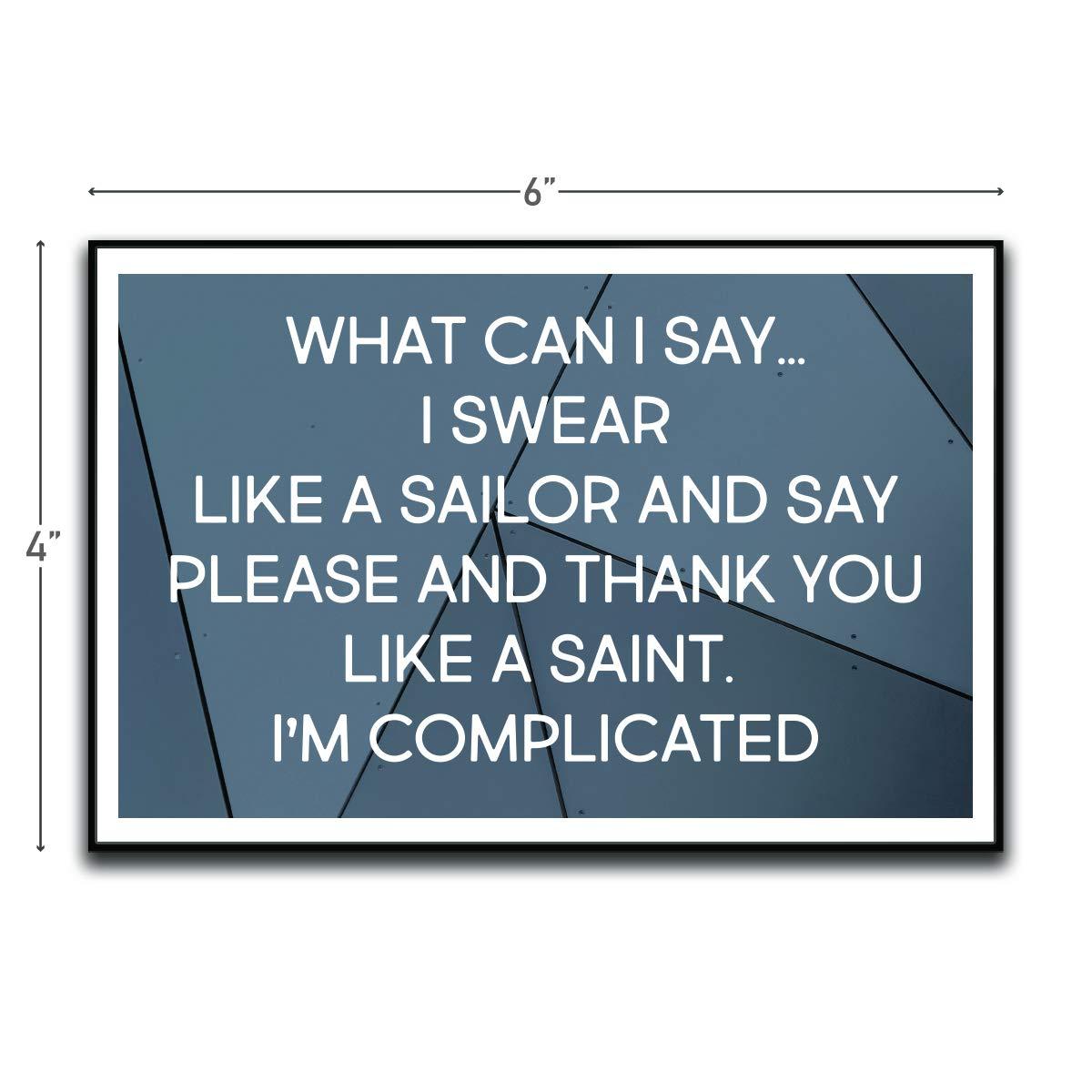 I Swear Like A Sailor Please And Thank You Like A Saint Motivational Inspirational Funny Magnet - Refrigerator Toolbox Locker Car Ammo Can