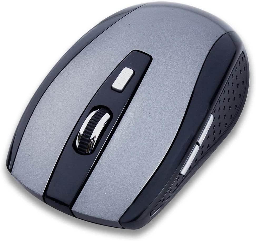 Tonsee Portable 2.4G Wireless Optical Mouse Mice for Computer PC Laptop Gamer Silver