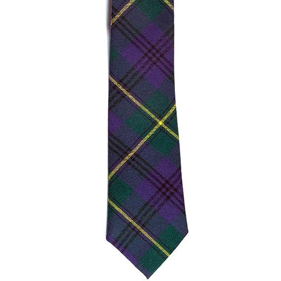 Corbata para hombre, de Ingles Buchan, 100 % de lana con diseño de tartán Johnston talla única: Amazon.es: Ropa y accesorios