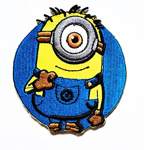 Despicable Me Minion logo cartoon kid Patch Cartoon Movie patch Kid Baby Boy Jacket T Shirt Patch Sew Iron on Embroidered Symbol Badge Cloth Sign - Despicable Me Logo Minion