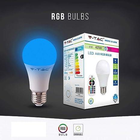 Bombillas LED V-TAC E27 3 W a 24 W lámpara bola globo bulbo par