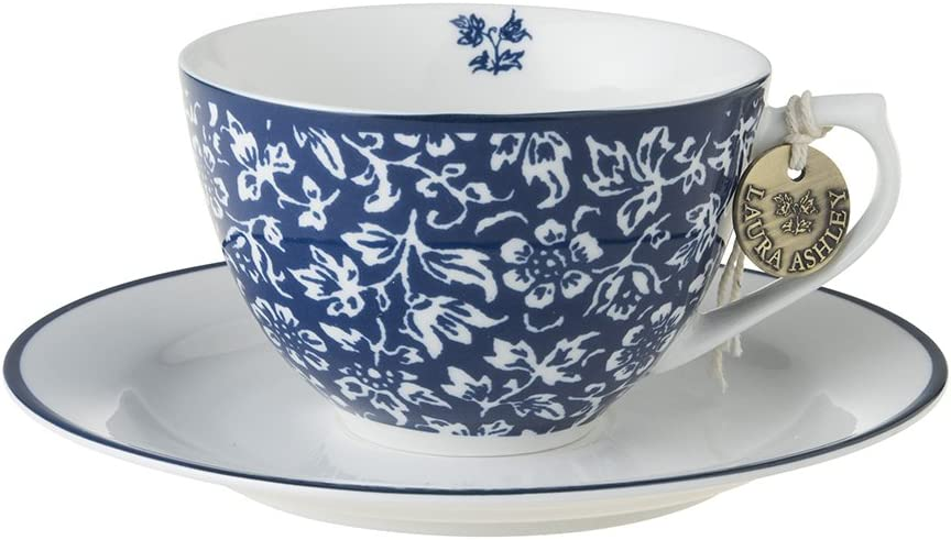 Sweet Alyssum Laura Ashley Cappuccino Cup and Saucer