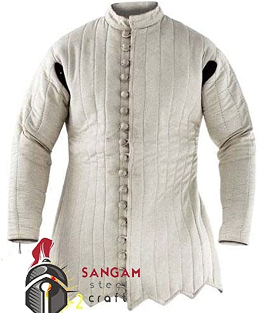 Gambeson thick padded Medieval coat Aketon vest Jacket Armor SCA COSTUMES DRESSa