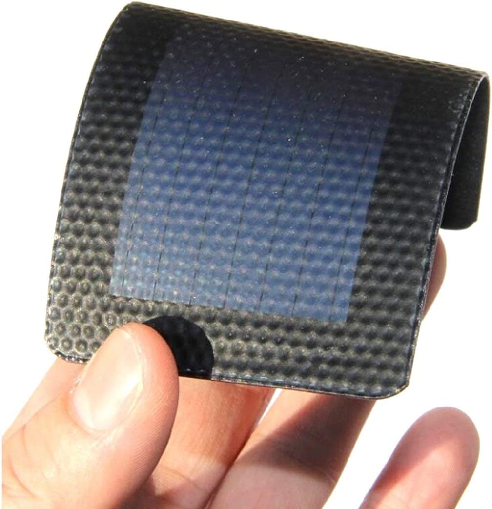 Swiftswan 1Pc 0.3W 2V Waterproof Foldable Solar Panel DIY Battery Cell Flexible Amorphous Silicon Membrane Solar Charging Panel