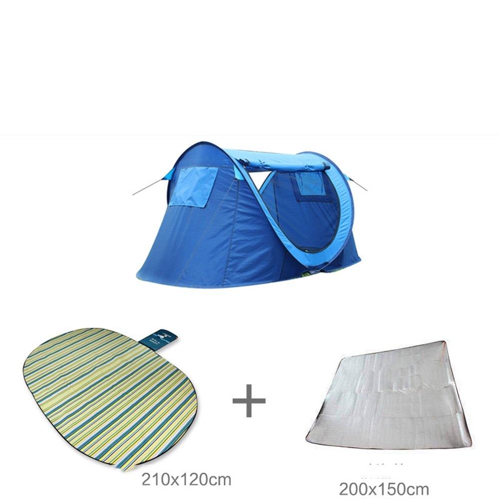 QFFL zhangpeng テント1 2速オートテント屋外ダブルパークビーチ恋人テントファミリーフィッシングテント3色オプション トンネルテント (色 : C)  C B07CGSM536