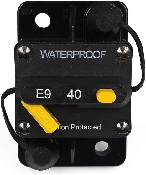 50amp Circuit Breaker Rate Up To 72V DC Car RV Solar Panel Marine Boat Battery