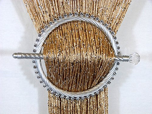STRING NET CURTAIN HOLDER BROOCH TIE
