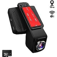 TOGUARD Caméra de Voiture GPS WiFi Grand Angle de 170° Caméra Embarquée Full HD 1080P, Dashcam Voiture avec Objectif Réglable Écran 2.45 Pouces IPS LCD 32 Go Carte SD Inclus