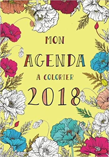 Agenda à colorier 2018 couverture jaune, agenda, art ...