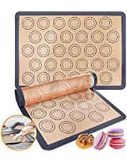 Silicone baking mat,2 Packs Reusable Nonstick Liners for Baking Pans and Cookie Sheets Reusable Nonstick Liners for Baking Pans and Cookie Sheets BPA Free Microwave, Oven and Dishwasher Safe(36*6*6cm)