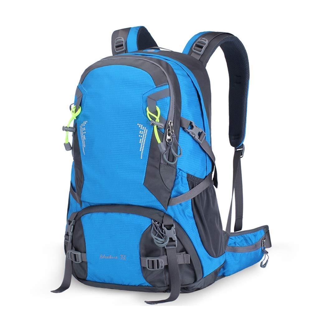 アルパインパック 登山バッグアウトドア旅行外出パッケージ35L大容量屋外配信ビル旅行パッケージ多機能ハイキングバッグ (Color : Blue)  Blue B07G23G1FZ