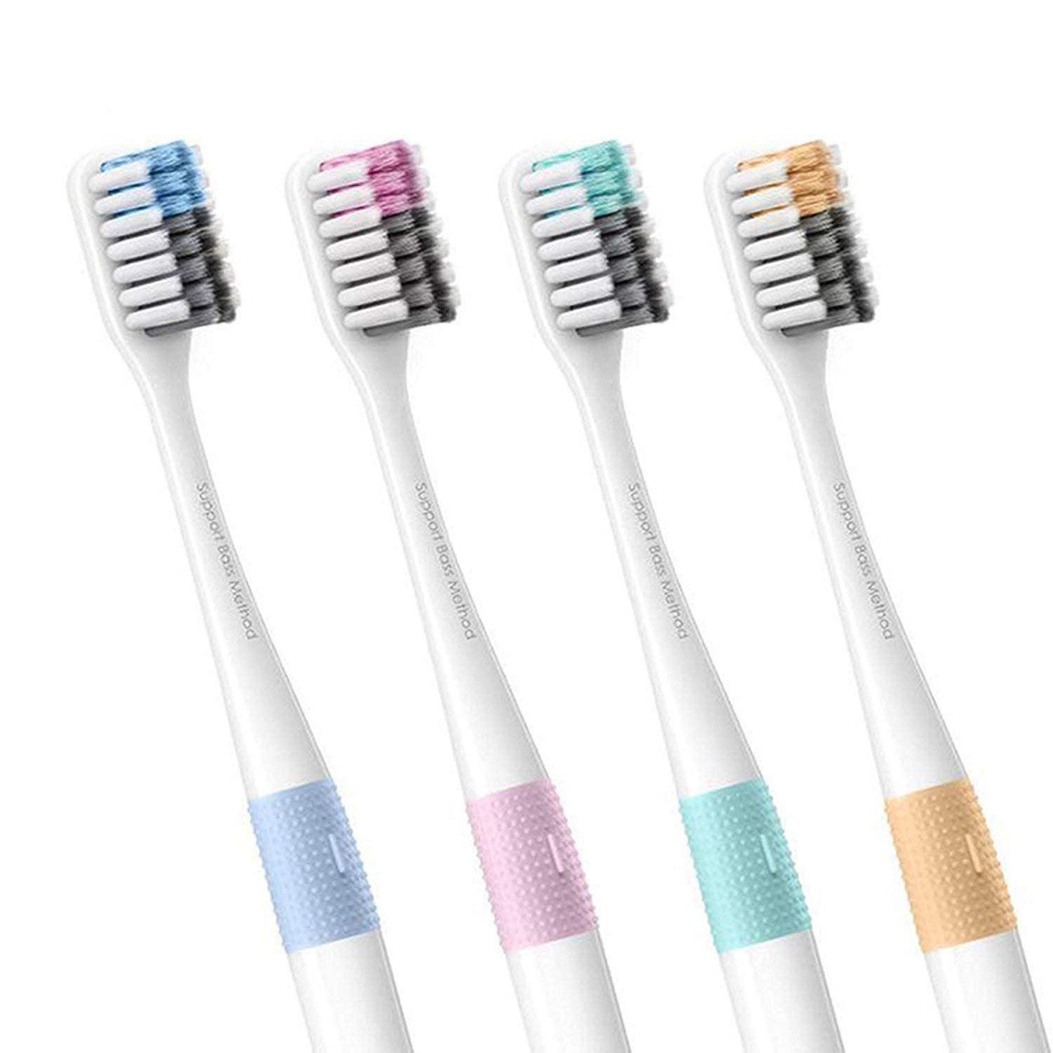 Xiaomi Doctor B Bass Method antibacterial designer toothbrush (set of 4) w/ travel case