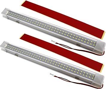 2x 72 Led Innenbeleuchtung Auto Lampe 12v Fur Bar Auto Van Bus Beleuchtung Weiss Amazon De Baumarkt