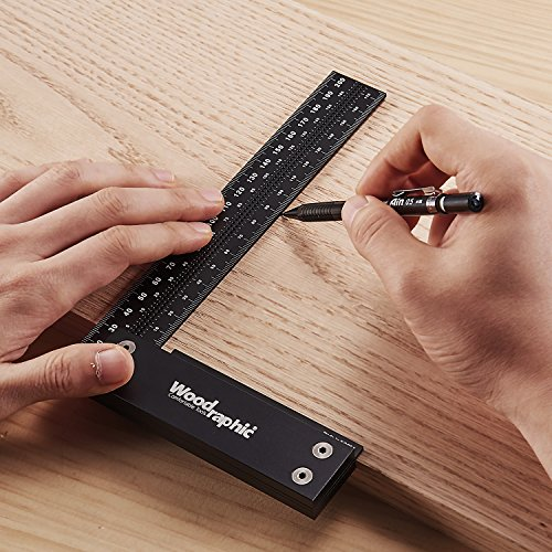 Woodraphic Precision Square 12-inch Guaranteed Square Ruler for Measuring and Marking - Aluminum Steel Framing Tool for Professional Carpentry Use by Woodraphic (Image #5)