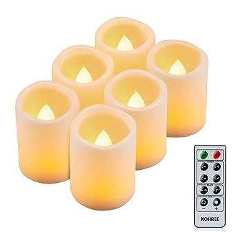 Weihnachtsdeko Led Kerzen.Kohree 6 Led Flammenlose Kerzen Mit Fernbedienung Batteriebetriebene Kerze Led Kerze Mit Timer Für Weihnachtsdeko Hochzeit Geburtstags Party