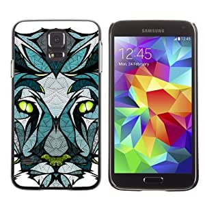 Designer Depo Hard Protection Case for Samsung Galaxy S5 / Beautiful Panther