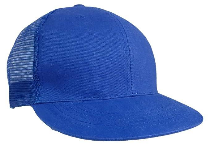 Amazon.com  Plain Adjustable Plastic Snap Trucker Style Baseball Cap ... 8a722a5d3b9