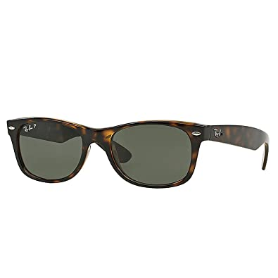 ray ban green wayfarer  Amazon.com: Ray Ban Wayfarer RB2132 902/58 Tortoise/Crystal Green ...