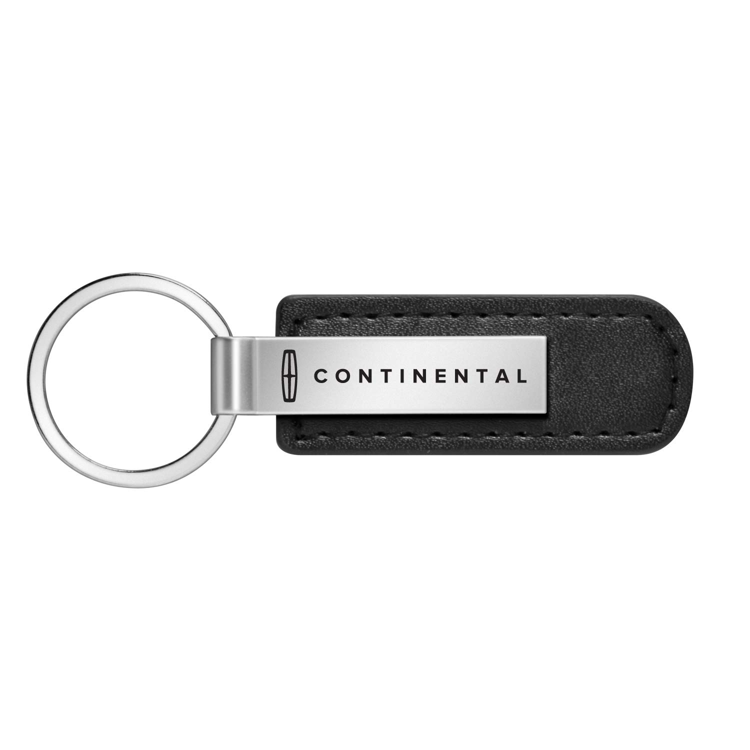 Lincoln Black Leather Strap Key Chain iPick Image Continental