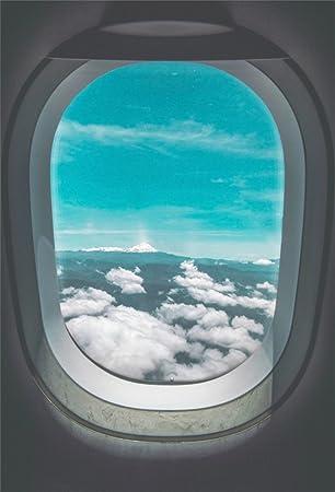 Amazon Com Csfoto 3x5ft Background For Airplane Window Inside An