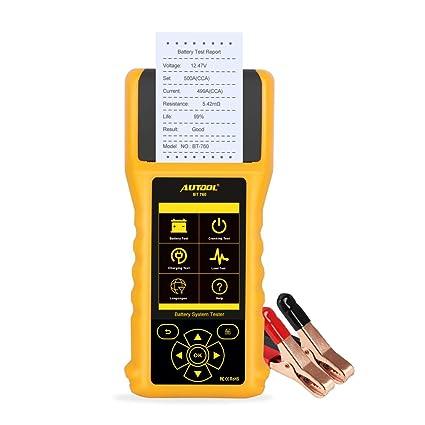 AUTOOL BT760 Probador de batería de automóvil Analizador de ...