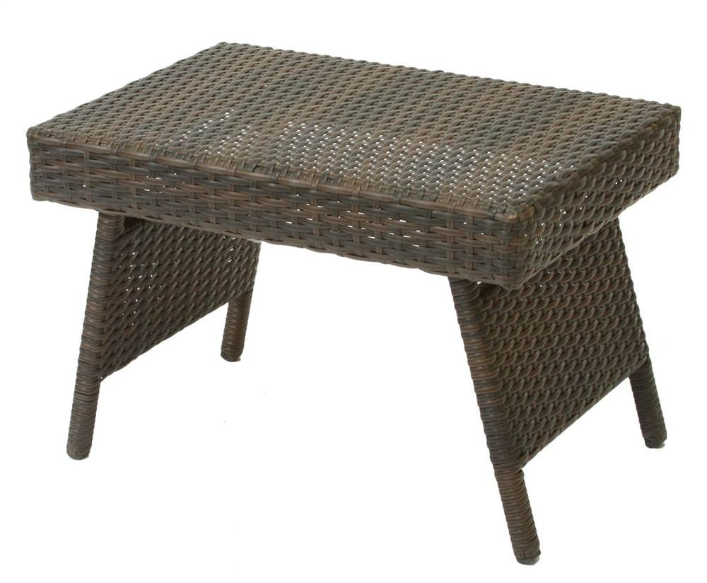 Amazon.com : Best-selling Foldable Outdoor Wicker Table : Patio Side ...