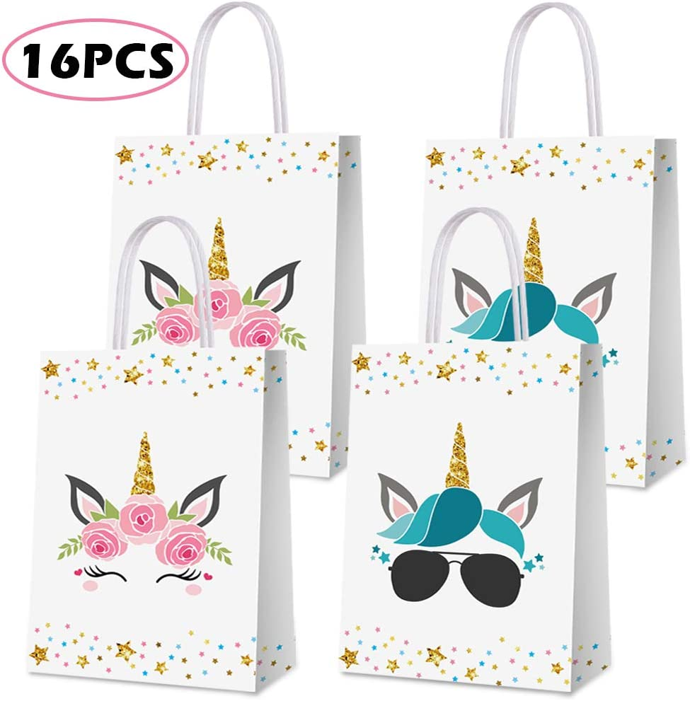Unicorn Party Favor Bags for 16 Guests
