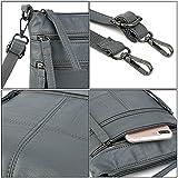 UTO Women Small Crossbody Bag Roomy Multi Pockets