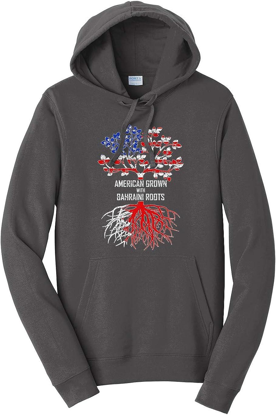 Tenacitee Mens American Grown with Bahraini Roots Hooded Sweatshirt