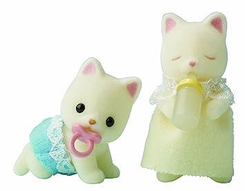 Sylvanian Family 3236 - Bebés gatos gemelos en miniatura