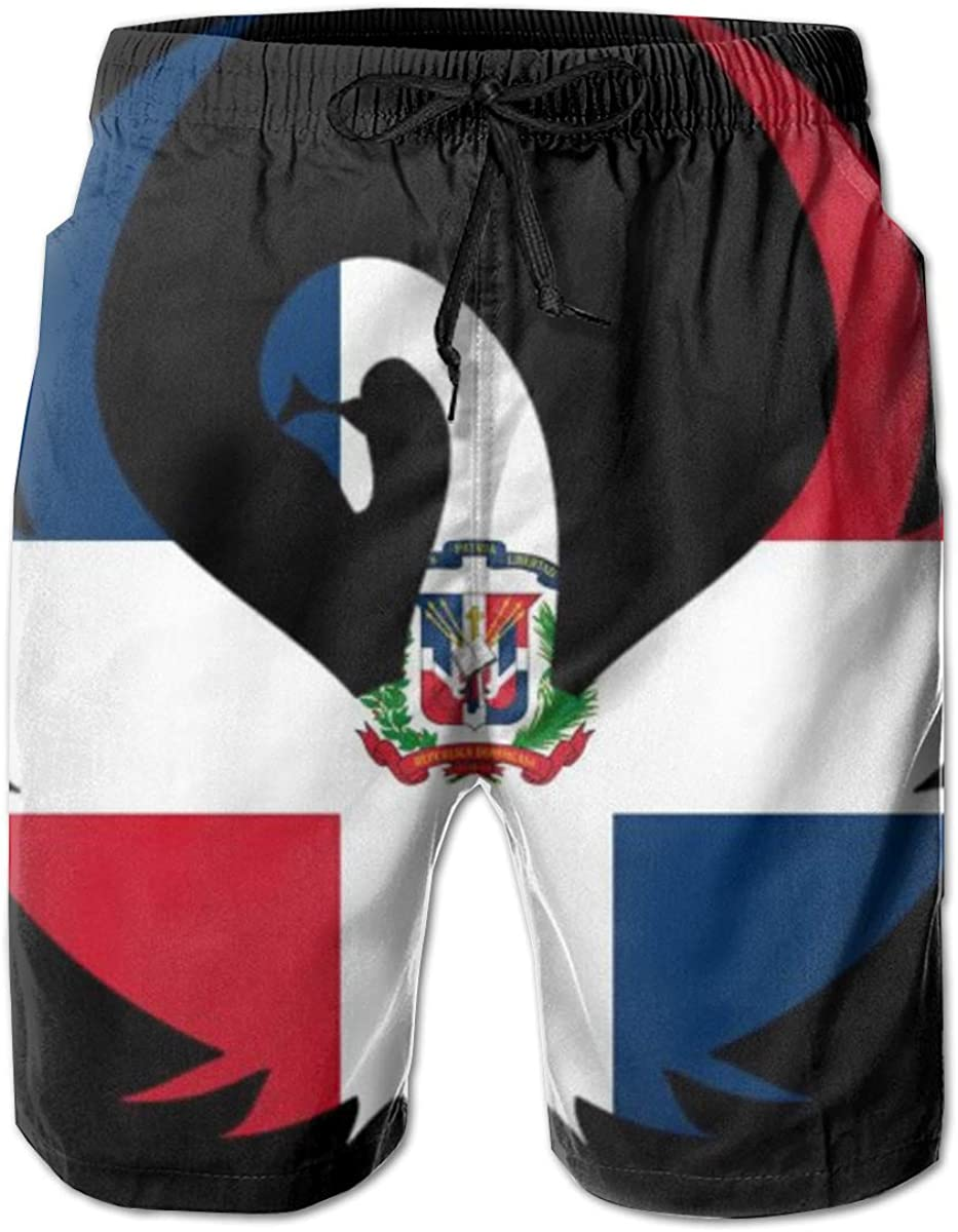 3D Swimming Trunks Board Shorts for Men Galaxy Voyage Dominican Flag Boy Men S Swim Trunks Surf Pants