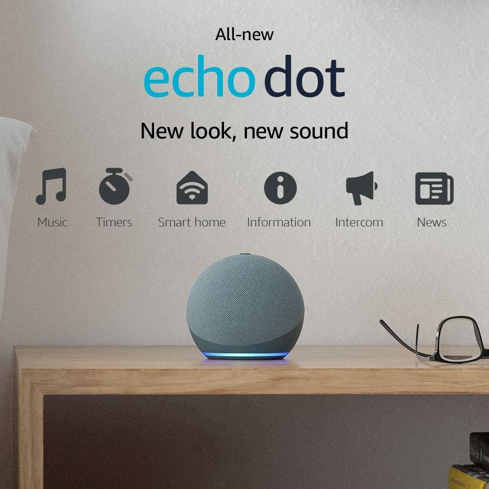 All-new Echo Dot (4th Gen, 2020 release) | Smart speaker with Alexa | Twilight Blue