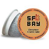 SF Bay Coffee Cinnamon Crumb Cake 12 Ct Flavored Medium Roast Compostable Coffee Pods, K Cup Compatible including Keurig…