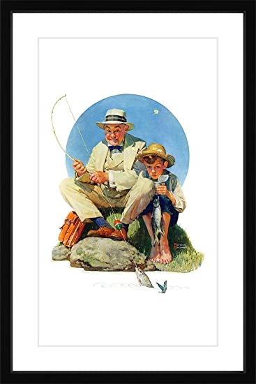 Marmont Hill Vintage Americana Catching The Big One Framed Art Print 24quot