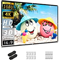 Projector Screen 84 inch, Taotique 4K Movie Projector Screen 16:9 HD Foldable and Portable Anti-Crease Indoor Outdoor…