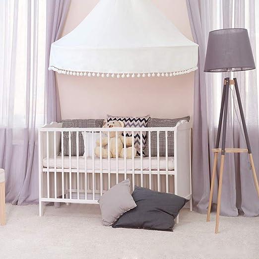 Kids Baby Lit Baldaquin Lit Moustiquaire Rideau Literie Dôme Tente coton UK