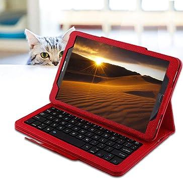 REAL-EAGLE Galaxy Tab A 10.1 2016 Teclado Funda SM-T580/T585 (QWERTY), Funda de Cuero con Desmontable Inalámbrico Teclado para Samsung Galaxy Tab A ...