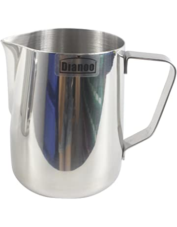 Dianoo jarra de leche, acero inoxidable taza de leche, buen agarre espumar lanzador,