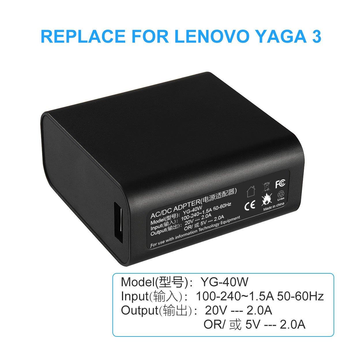ARyee - Adaptador de Corriente para Lenovo Yoga 3 Pro, Yoga ...