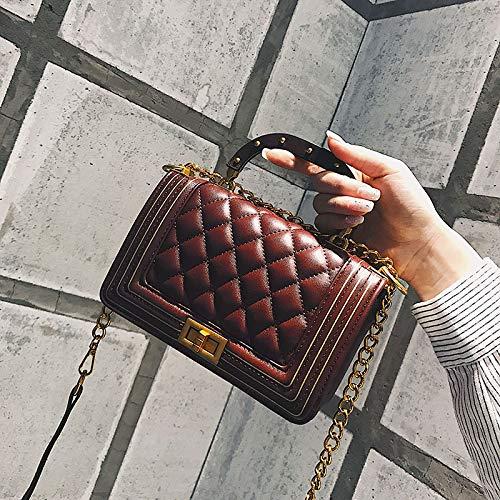 rétro Petit à Bag Sac Main Sac carré Fuchsia Femme Messenger bandoulière Petit Fashion WSLMHH Sac à chaîne OnSWpFp