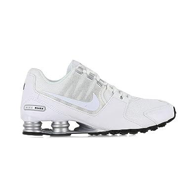 timeless design 636a5 21347 NIKE Men's Shox Avenue Running Shoes, 6.5 D(M) US, White/White - Metallic  Silver - Black: Amazon.co.uk: Shoes & Bags