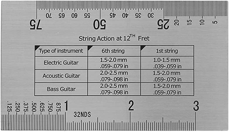RiToEasysports Juego de Herramientas Luthier para Guitarra Protectores de diapas/ón Protector de trastes Regla de Calibre de acci/ón medidores de Paleta de 32 Piezas
