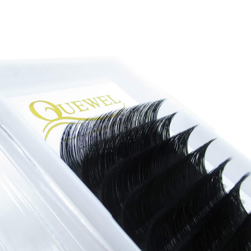aaed8d8209f Amazon.com : Quewel Natural Thick Silk Mink Eyelashes Extension 0.07 D Curl  18mm : Beauty