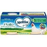 Mellin Omogeneizzato di Pollo 100% Naturale – 12 Vasetti da 80 gr