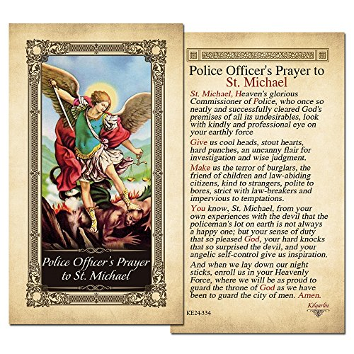 Police Officer's St. Michael Laminated Holy Card - Pack of 25